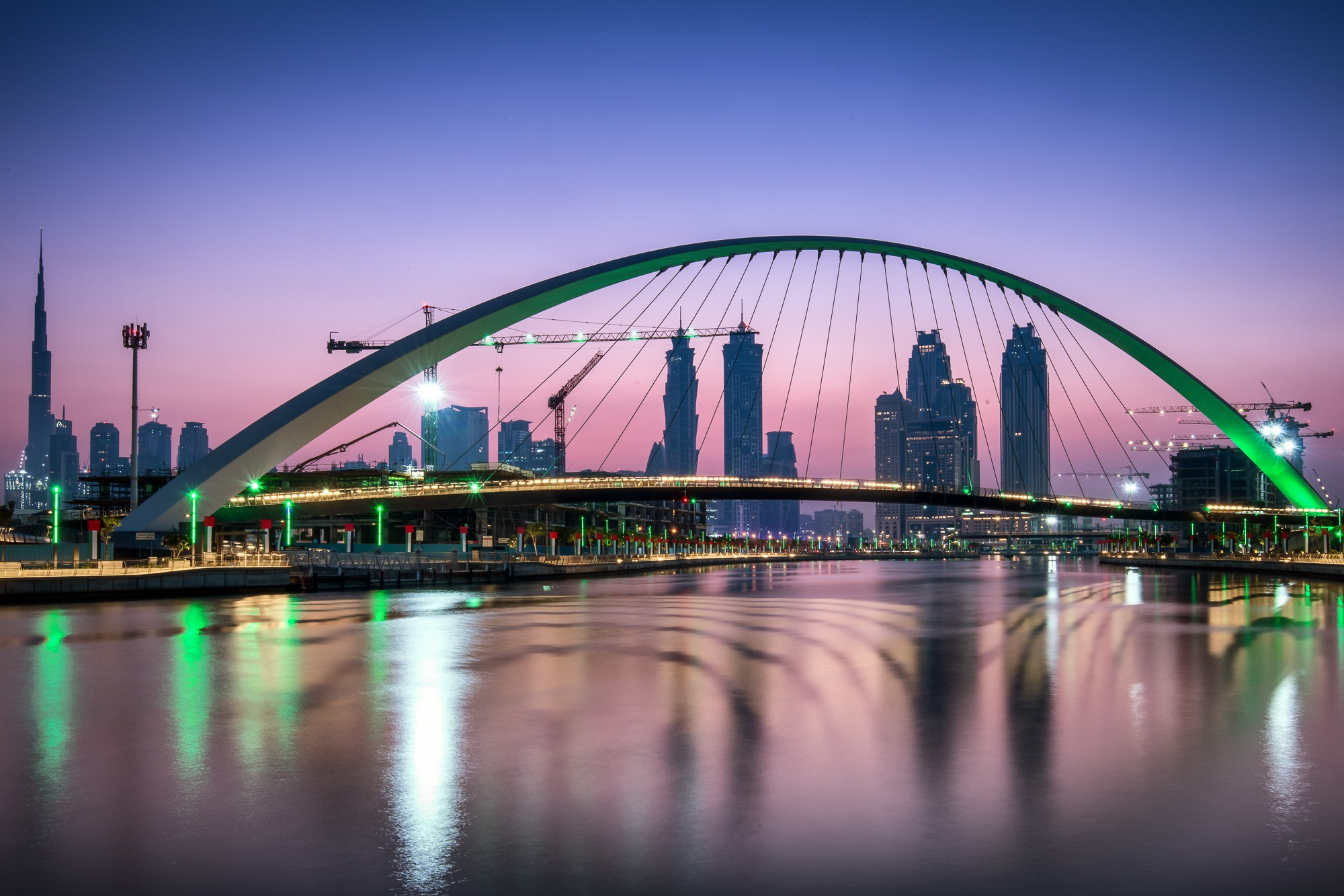 Dubai patrik banas bridge sunrise