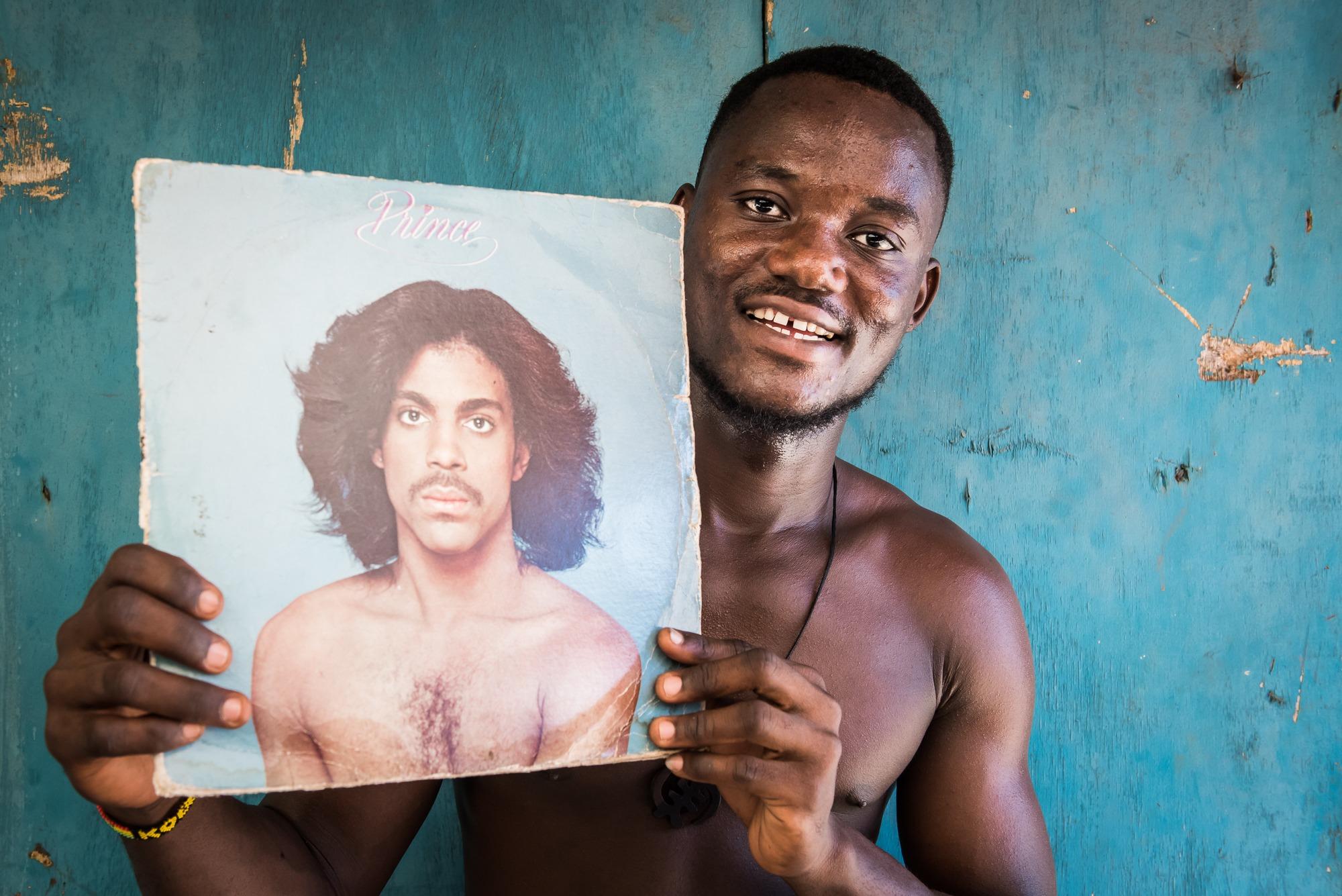 ghana market LP record prince
