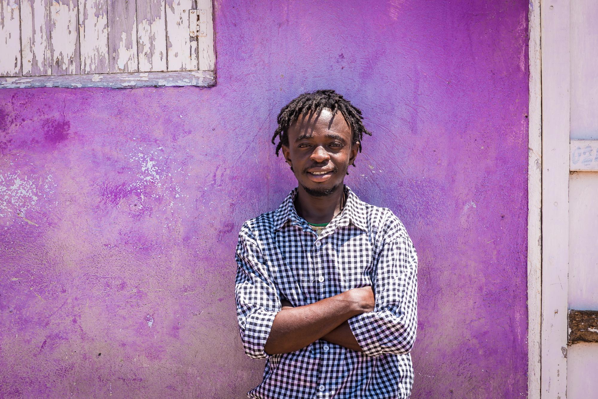 ghana accra purple wall