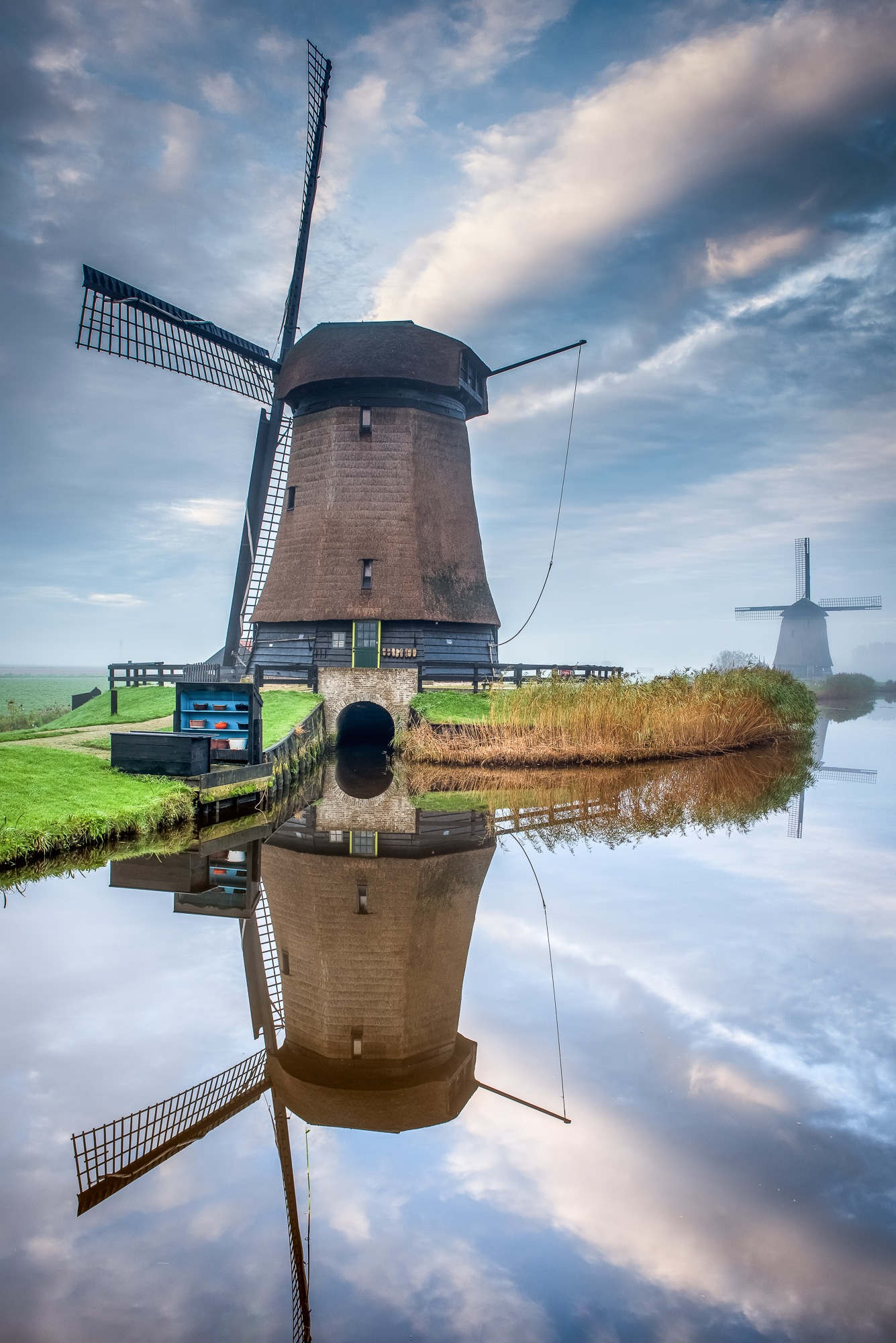 holland mill reflection
