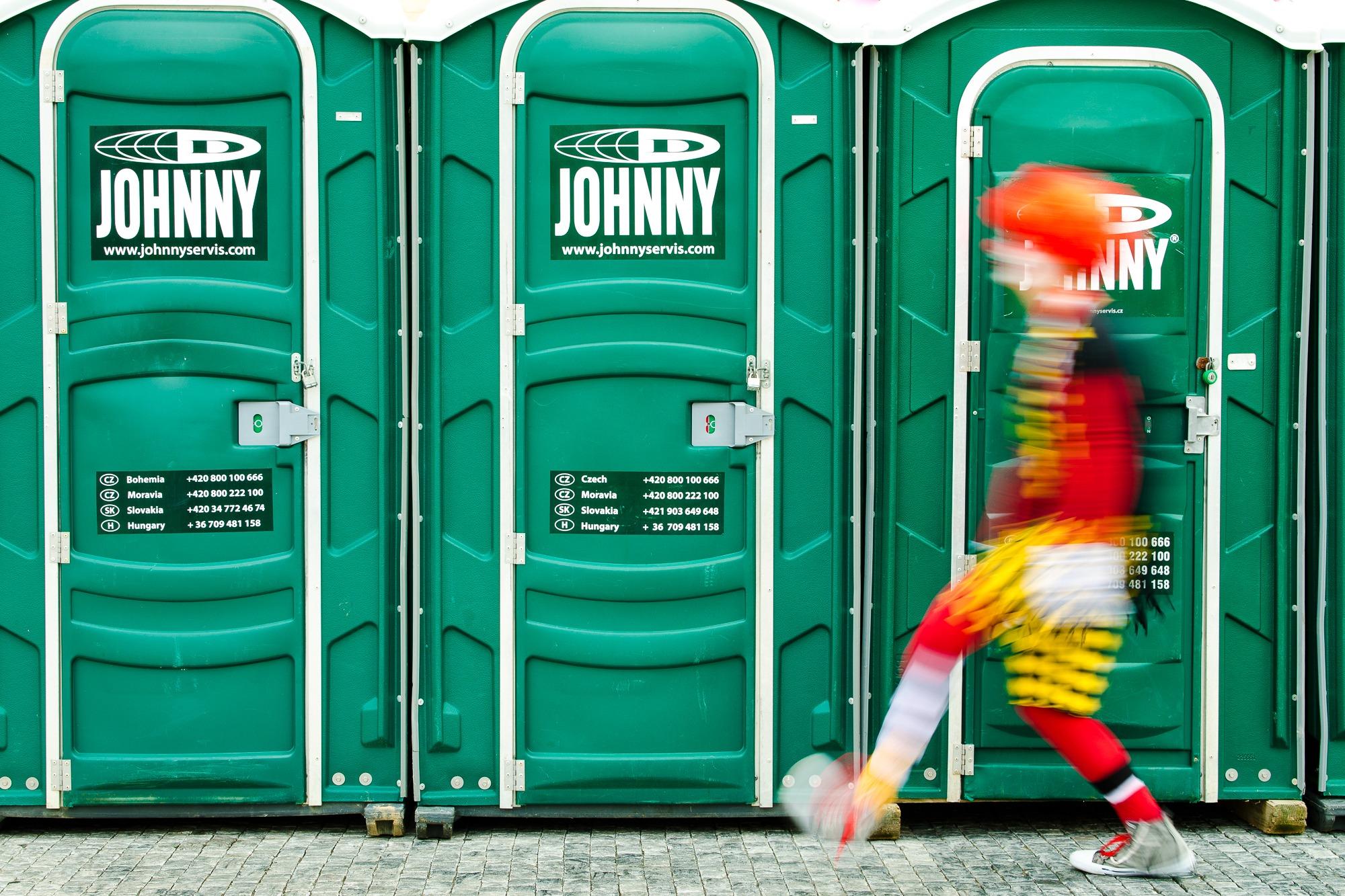 prague clown czech toilet
