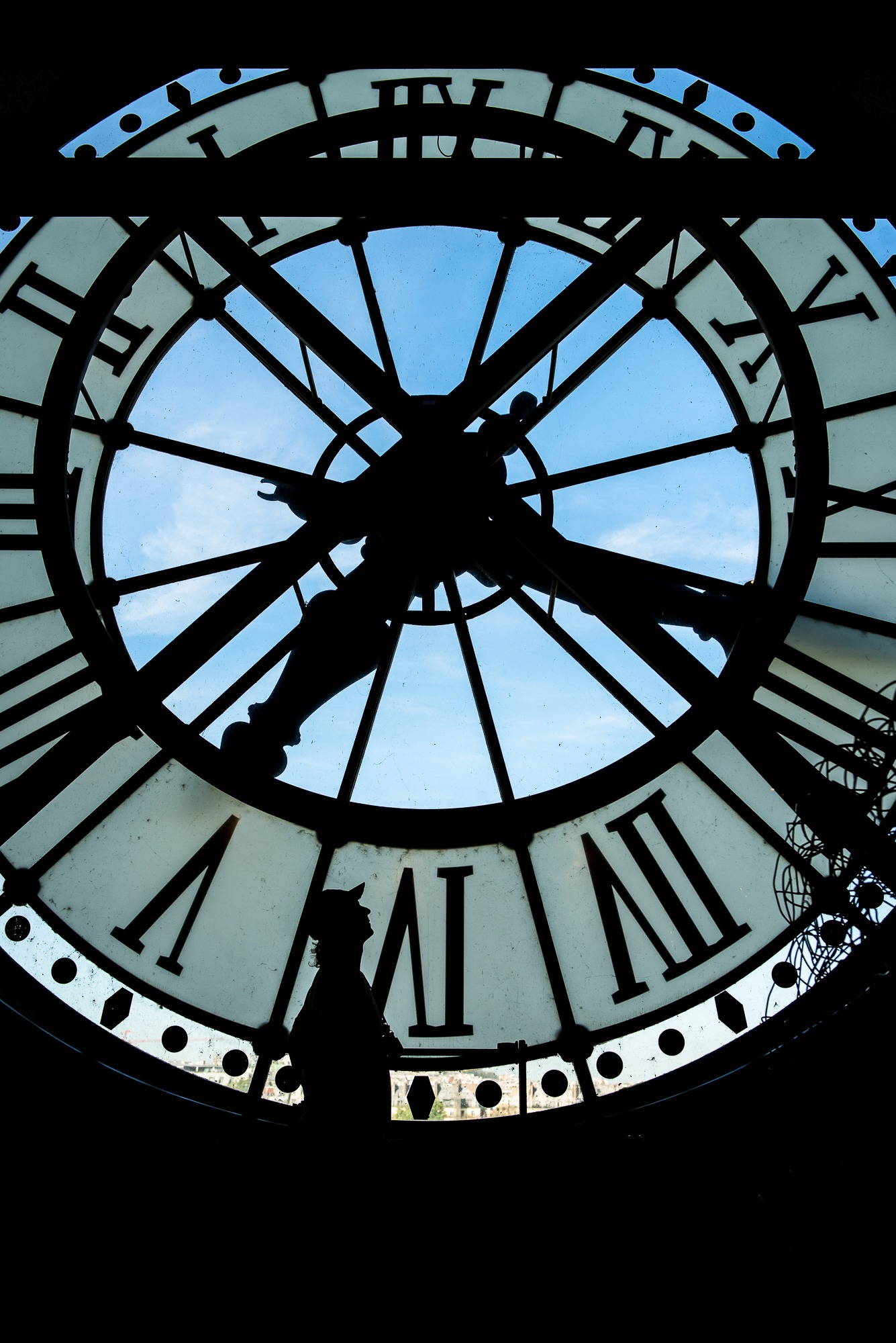 muse d'orsay clock paris france