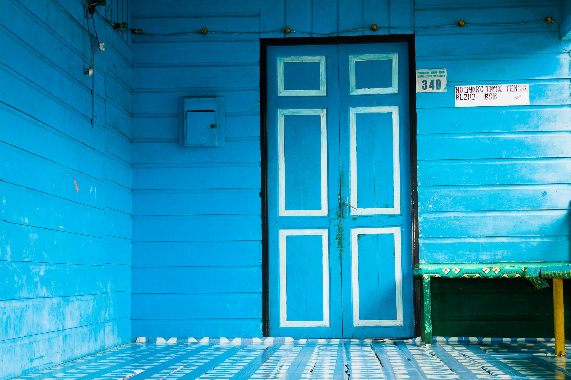 brunei doors blue