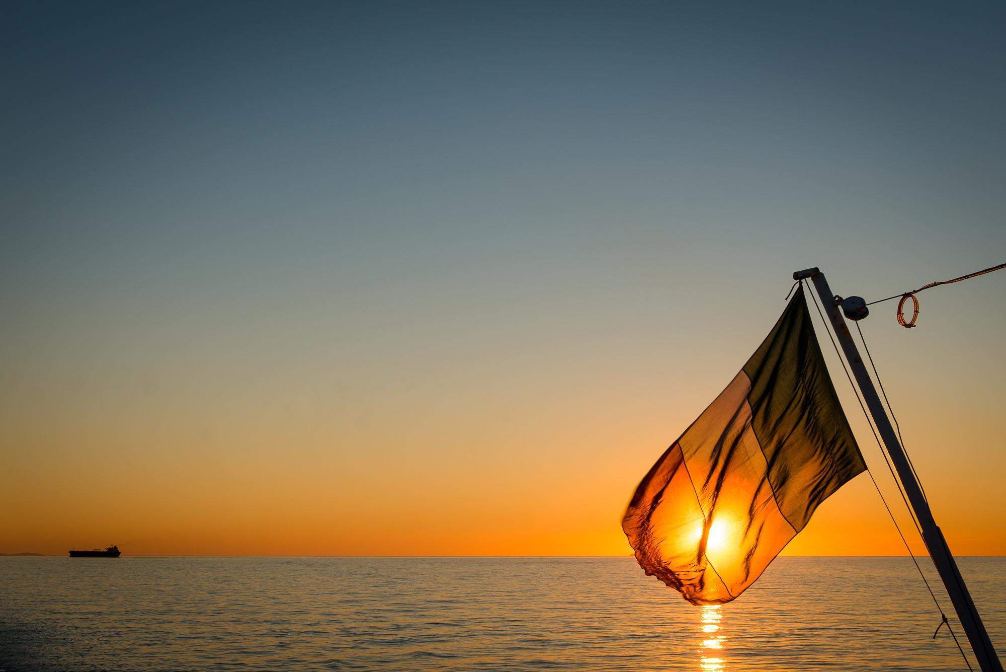 italy flag corsica